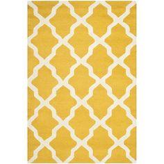 Safavieh Handmade Moroccan Cambridge Gold/ Ivory Wool Rug (6' x 9') / $260.99