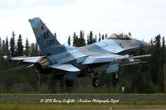 LAUNCH: RED FLAG-ALASKA 15-3 General Dynamics F-16C Viper USAF 86-0293 18th Aggressor Squadron (AGRS) Russian-style Camo