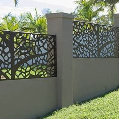 aluminum alloy fence panels for garden as decorative & hotel metal partition & wall panel Decorative Fence Panels, Decorative Metal Screen, Metal Fence Panels, Privacy Wall On Deck, Privacy Screen Outdoor, Modern Fence Design, Patio Design, Gate Wall Design, Laser Cut Panels