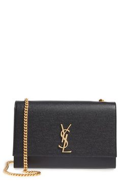 Free shipping and returns on Saint Laurent Large Kate Monogram Leather Shoulder Bag at Nordstrom.com. A gleaming YSL monogram beautifully highlights the timeless elegance of this structured shoulder bag, fashioned from textured leather and topped with a pull-through chain strap.