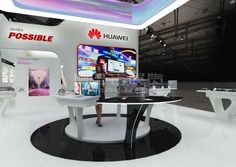 Huawei Singapore,English Booth Design,Huawei Technologies Co., Ltd. Exhibition Hall Planning【Demage English Exhibition Company】