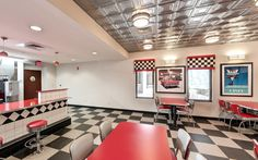 """Our residents enjoy a """"blast to the past"""" in our authentic 50s diner! Take a recently added 360 degree tour here:"""