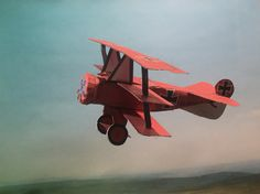 4D model of Fokker Dr.I (Red Baron). #RedBaron, #wwiaircraft