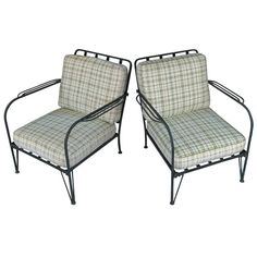 1stdibs   Pair of  Vintage Wrought Iron Lounge Chairs by Salterini