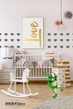 Καρδούλες για τον τοίχο του δωματίου σας! Αυτοκόλλητες καρδιές, μοναδικό ρομαντικό decor! Signage, Toddler Bed, Wall Decor, Decoration, Creative, Furniture, Home Decor, Child Bed, Wall Hanging Decor