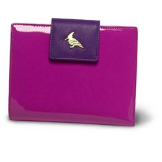 oneoddbird lavender wren - this perky patent and soft, buttery leather wallet takes functionality to new heights with plenty of room for cards, bills, receipts, and a hidden zipper that opens to a coin purse. choose from a gaggle of uplifting color combinations and watch out for pop of whimsy sewn into every piece.