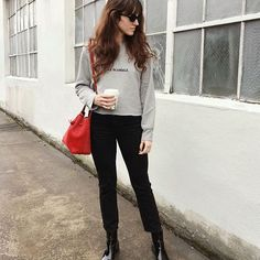black boots + black cropped trousers