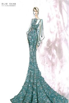 #Elie Saab Fashion Illustrations: