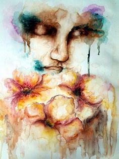 """Saatchi Online Artist Patrícia the Artist; Painting, """"""""Meditação"""""""" #art"""