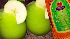 Crown Royal Green Apple Slush Recipe Valentine s Day is upon us and it s time to let loose all the year s stresses that culminated into one big nbsp hellip Peach Drinks, Summer Drinks, Fun Drinks, Mixed Drinks, Beverages, Green Alcoholic Drinks, Alcoholic Shots, Bourbon Drinks, Frozen Margaritas
