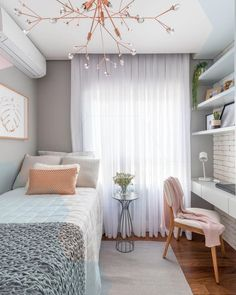 Bedroom Design Ideas for Small Rooms You Will Love 7 - Bedroom Design Ideas for Small Rooms You Will Love – 10 Exciting Bedroom Decorating Ideas Room Design Bedroom, Small Bedroom Designs, Room Ideas Bedroom, Home Room Design, Small Room Bedroom, Small Rooms, Bedroom Decor, Bed Room, Bedroom Black