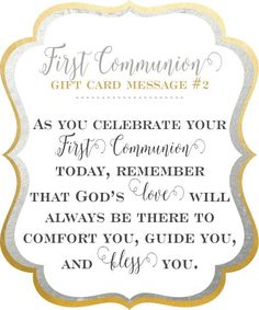 As you celebrate your First Communion today, remember that God's love will always be there to comfort you, guide you, and bless you. | Little Girl's Pearls ♥