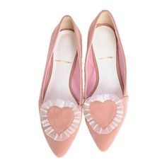 【goods】ハートフリルフラットシューズ|merry jenny(メリージェニー) | SHODENSHA magazine... ❤ liked on Polyvore featuring shoes