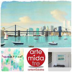 """"""" Manhattan """" Serigrafia - cm. 60X80  Visitaci su ➜ http://www.artemidatre.com/  ● #Arte #serigrafia #ornamento #oggetto #idea #lusso #design #art #artist #provocazione #ufficio #casamoderna #designmoderno #manhattan #gallery #artgallery ●"""