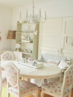 White dinning room - I could paint mine all white!!! would look much better!