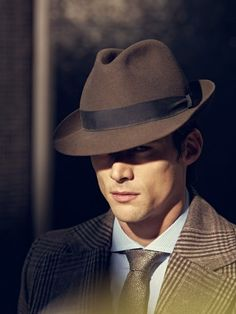 tweed and trilby - very handsome indeed