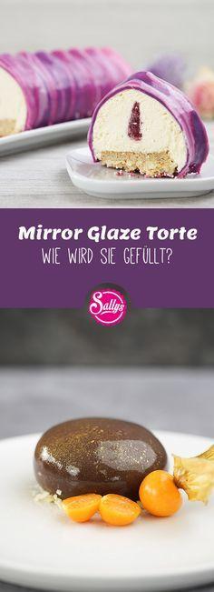 Eine Mirrorglaze Torte, also eine mit Spiegelglasur überzogene Torte benötigt eine gute Vorbereitung. In diesem Video erfahrt ihr wie ihr sie lecker füllen und optimal vorbereiten könnt. Ihr könnt die Torte entweder mit einem hellen oder dunklen Teig zubereiten.