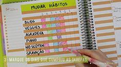 Seja uma Planejadora de Sucesso. Crie seus Habit Tracks e mude aqueles hábitos…
