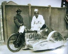 Brough superior racing sidecar
