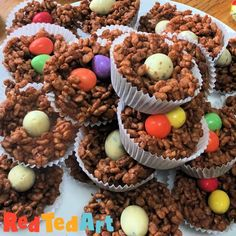 Red Ted Art's Easy Chocolate Easter Nests! A classic childhood Easter Activity that is so easy and fun to make. Choose your favourite cereal to make these treats! Easter Cookies, Egg Free, Kids, Young Children, Boys, Children, Boy Babies, Child, Kids Part