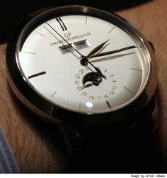 Girard Perregaux 1966 Full Calendar. Fine Watches, Cool Watches, Men's Watches, Girard Perregaux, Skeleton Watches, Authentic Watches, Luxury Watches For Men, Beautiful Watches, Watch Brands