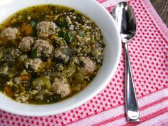 Italian Wedding Soup - use SCD spices and homemade broth