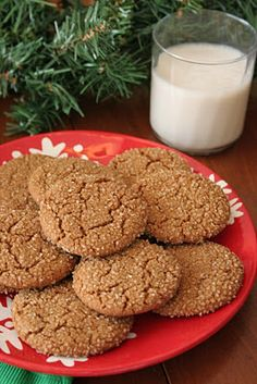 Vegan Gingersnap Cookies- MarionW's notes: these are great! Not too sweet, with just the right amount of spice.