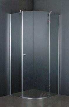 Kwart ronde douchecabine met één deur. Gemaakt van glas. Veiligheidsglas 6mm #douchecabine #wise #enkele #deur