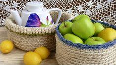 DIY háčkované košíky Foto: