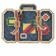 Going Places Bead Cross Stitch Kit Mill Hill 2014 Spring Bouquet - $5.49