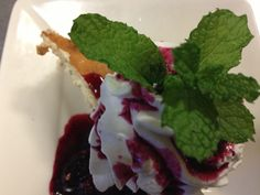 Maple Peach Cheesecake with Organic Blueberry sauce!