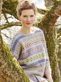 FLEUR from Springtime Collection Six by Marie Wallin 8 handknit designs for women by Marie Wallin. A beautiful trans-seasonal collection of quintessential feminine knitwear featuring floral intarsias, fairisles, subtle lace and twisted stitch textures. Mainly using Rowan Felted Tweed, this collection is the ideal solution to the problem of what to wear on a sunny spring day when it's still chilly outside   English Yarns http://englishyarns.co.uk/rowan-marie-wallin-springtime.html