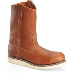 CA7504 Carolina Men's Wellington Wedge Safety Boots - Tobacco www.bootbay.com