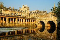 "Bath, England.  I want to go here so I can say in my fake British accent, ""I'm going to Bath"". Just like in every Jane Austin novel."