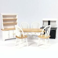 DF1180 - White Dolls House Kitchen Set from Bromley Craft Products Ltd.