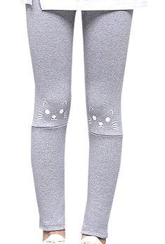 b96dd595e Baby Girls Winter Thick Tights Stretch Leggings Skinny Trouser Pants - Grey  - CZ186UYUCNN