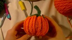Loom Knit Pumpkin Beginning to End