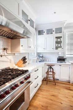 Crisp white kitchen cabinet paint color