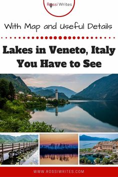 Pin Me - Lakes in Veneto, Italy You Have to See - rossiwrites.com Travel Articles, Travel Advice, Travel Tips, Travel Images, Travel Photos, Travel Around The World, Around The Worlds, Best Travel Guides, Vacation Destinations