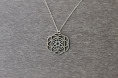 Flower of Life necklace of sacred geometry and by TzufitMoshel, $96.00