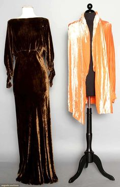 Two Velvet Garments, 1930s, Augusta Auctions, MAY 13th & 14th, 2014, Lot 94