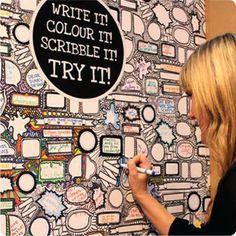 Scribble It wallpaper by DearDiary - Cole's bunk room?