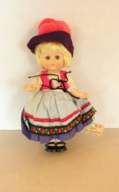 Vintage 1960s Vogue Ginny Doll From Far Away Lands by Calessabay, $24.95