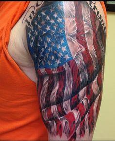 Harry tattoos, leo tattoos, badass tattoos, tattoos for guys, american flag Harry Tattoos, Leo Tattoos, Sweet Tattoos, Badass Tattoos, Arm Tattoos For Guys, Future Tattoos, Body Art Tattoos, Warrior Tattoos, Pride Tattoo