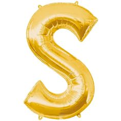 Jumbo Gold Letter S Helium Foil Balloon Party City Balloons, Rainbow Balloons, Gold Letter Balloons, Gold Letters, Latex Balloons, Foil Balloons, Airwalker Balloons, Thema Deco, Party