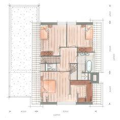 Huis bouwen villa Icarusblauwtje plattegrond verdieping