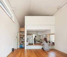 Gallery of 50m2 House / OBBA - 1 Tiny Living, Home And Living, Living Spaces, Living Area, Small Apartments, Small Spaces, Loft Staircase, Interior Architecture, Interior Design