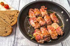 Csirkemáj baconbe tekerve recept