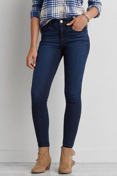 Very slimming American Eagle high rise skinny jeans- very soft stretchy  material. Fits a size Perfect condition- look brand new ✌ ✌ MOTHER Jeans  Ankle & ...