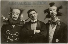 Not afraid of clowns? You will be now.--12 Horrifying Photos Of French Clowns From 1900-1930s